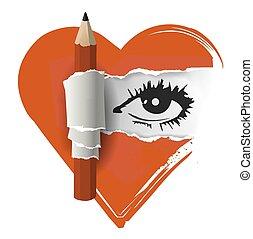 愛, 図画