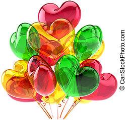 愛, 多色刷り, 風船, パーティー