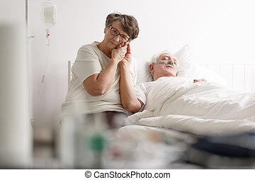 愛, 妻子, ......的, 有病, 年長者