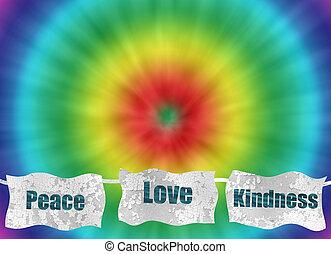 愛, 平和, レトロ, 背景, 結染めなさい, 親切