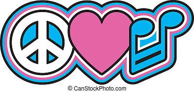 愛, 平和, 音楽