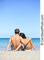 愛, 恋人, 浜, ライフスタイル, 休暇