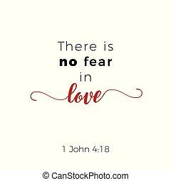 愛, 恐れ, いいえ, 聖書, 4:18, ゴスペル, ジョン, 句, そこに