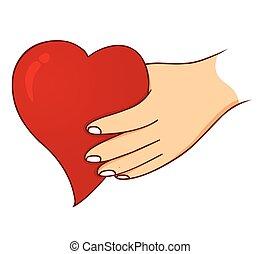 愛, 手を持つ