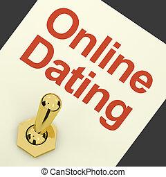 愛, 提示, ロマンス語, スイッチ, オンラインがデートする