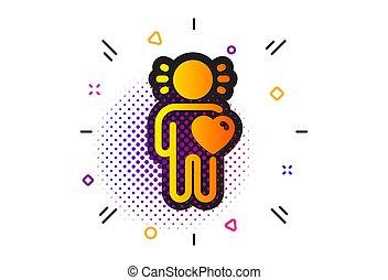 愛, 援助, business., ベクトル, 友人, 友情, 印。, icon.