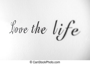 愛, 明るい, 生活, 壁, 句, 単語, 白