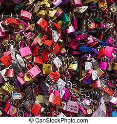 愛, 有色人種, 家, romeo, 錠, 多数, 門