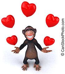 愛, 猴子