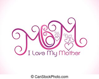 愛, 私, お母さん, テキスト
