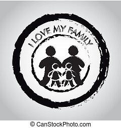 愛, 私, 家族, シール