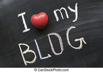 愛, 私, blog