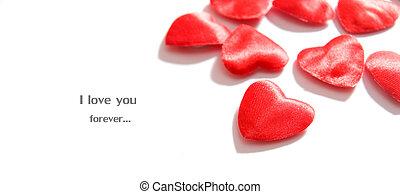 愛, 背景。, 心, 作品