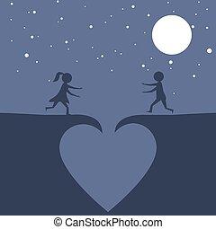 愛, 落ちる, 恋人