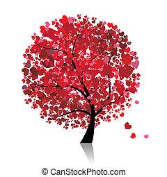愛, 葉, 木, 心, バレンタイン