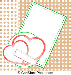 愛, 2, valentin`s, 心, 日, カード