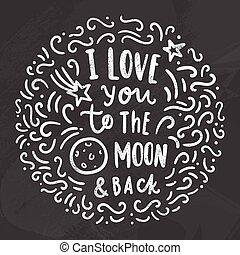 愛, back., あなた, 月