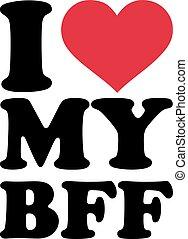 愛, bff, 私, 永久に, 友人, 最も良く