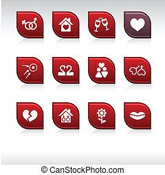 愛, icons.