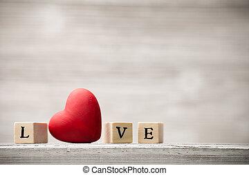 愛, message.