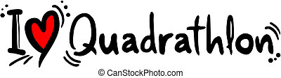 愛, quadrathlon