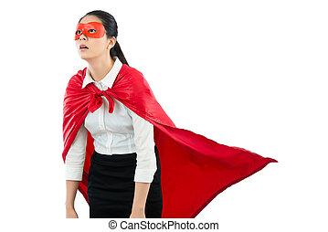 感じ, 失望させられた, 女, superhero, 疲れた