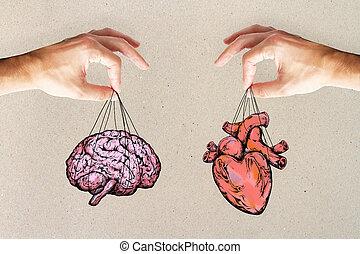 感じ, 心, 概念, 論理, 脳