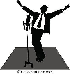 感傷的に歌う歌手, ステージ