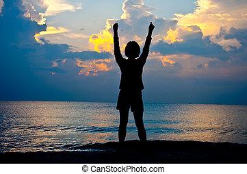 感受, 自由, 在海灘上