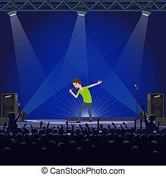 感情的, 歌手, 音楽コンサート, パフォーマンス