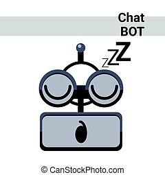 感情, かわいい, bot, ロボット, 顔, 睡眠, チャット, 漫画, アイコン