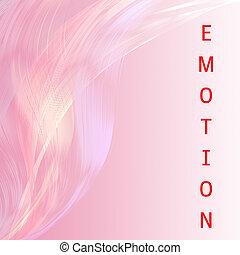 感情, ピンク, 抽象的, バックグラウンド。, 魅力的, アートワーク, 線, 言葉遣い