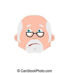 感情, 医者, 当惑させている, emoji., 医者, イラスト, avatar., ベクトル, 損失