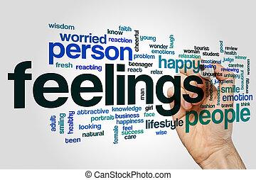 感情, 単語, 雲, 概念