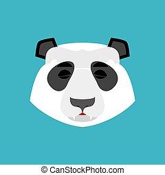 感情, emoji., 中国語, 隔離された, 熊, 睡眠, 眠ったままで, パンダ