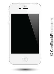 感触, smartphone, ベクトル, スクリーン