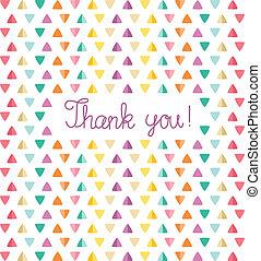 感謝しなさい, イラスト, ベクトル, あなた, template., カード