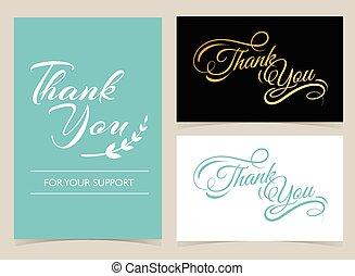 感謝しなさい, カード, あなた