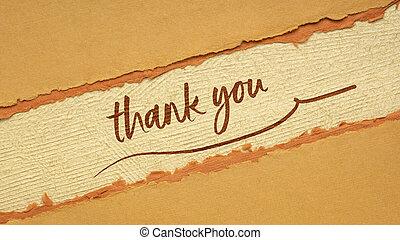 感謝しなさい, ペーパー, ハンドメイド, 手書き, あなた