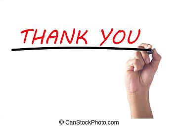 感謝しなさい, 手, 板, あなた, 執筆, 透明