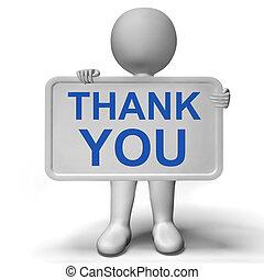 感謝しなさい, 提示, 印, ありがとう, 感謝, あなた
