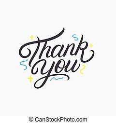 感謝しなさい, 書かれた, あなた, レタリング, 手