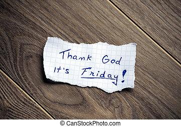 感謝しなさい, 神, ∥それ∥, friday!