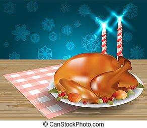 感謝祭トルコ, 揚げられている