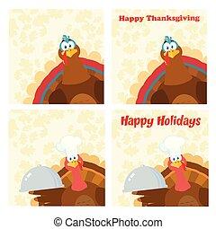 感謝祭トルコ, 鳥, コレクション, -, 10