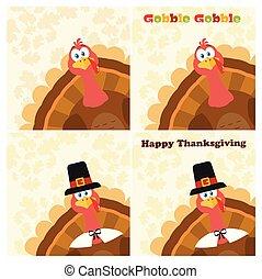 感謝祭トルコ, 鳥, コレクション, -, 3