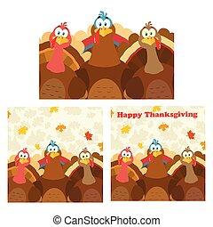 感謝祭トルコ, 鳥, コレクション, -, 7
