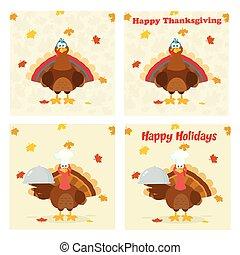 感謝祭トルコ, 鳥, コレクション, -, 8