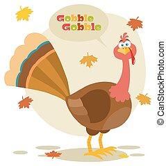 感謝祭トルコ, 鳥, 漫画, マスコット, 特徴