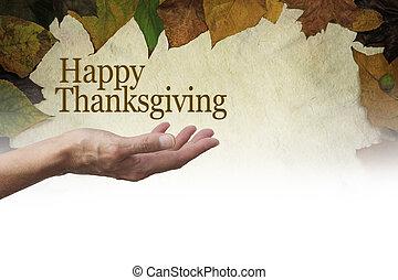 感謝祭, あなたの, 手